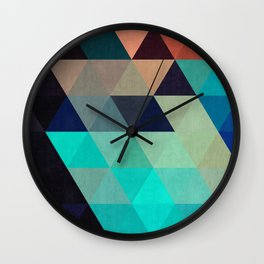 Cosmic abstract and colorful Wall Clock