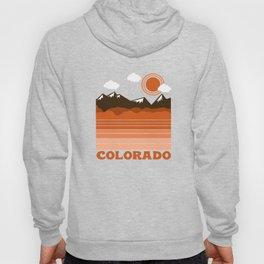 Colorado - 70s retro throwback travel state usa minimal design 1970's Hoody