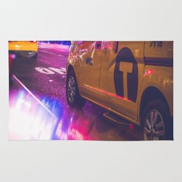 Taxi NYC Life (Color) Rug