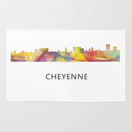 Cheyenne Wyoming Skyline BW1 Rug