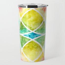 Watercolor circular abstraction Travel Mug