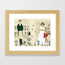 Mr.Darcy of Pemberley and Miss Bennet of Longbourn Framed Art Print