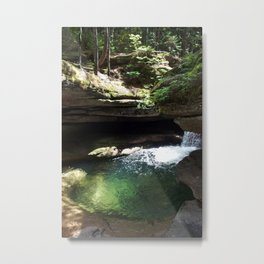 Emerald Clear Metal Print