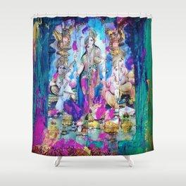 Saraswati, Lakshmi & Ganesha Shower Curtain