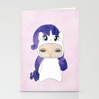 mlp Stationery Cards featuring A Boy - Rarity by Christophe Chiozzi