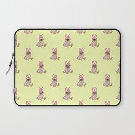 Pug dog in a rabbit costume pattern Laptop Sleeve