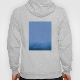 Mountain Range in Blue Hoody