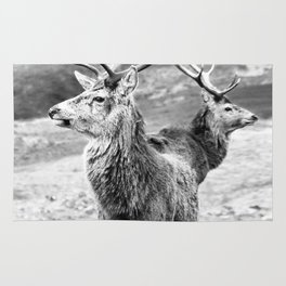 Stags - b/w Rug