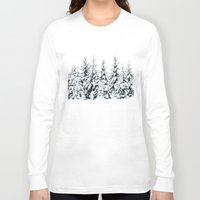 snow Long Sleeve T-shirts featuring Snow Porn by Tordis Kayma