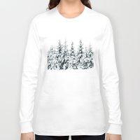 jon snow Long Sleeve T-shirts featuring Snow Porn by Tordis Kayma