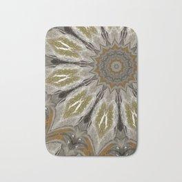 Flower in Olive Bath Mat