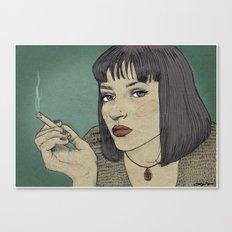 Mia (Mia Wallace Pulp Ficion) Canvas Print