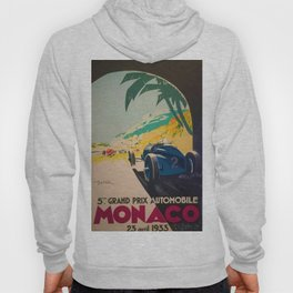 Vintage 1933 Monaco Grand Prix Car Advertisement Poster by Geo Ham Hoody