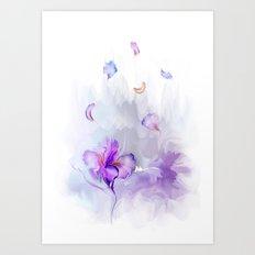 Iris's flowe Art Print