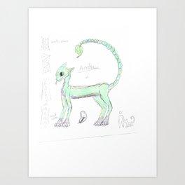 creature anatomy Art Print