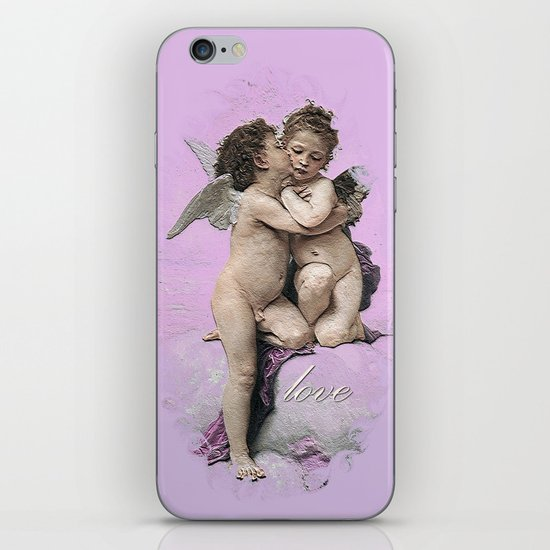 First Kiss Pink iPhone & iPod Skin