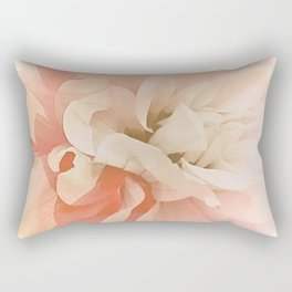 Dahlia, Soft Pink Glow Rectangular Pillow