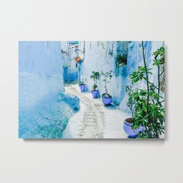 Blue City of Chefchaouen, Morocco  Metal Print