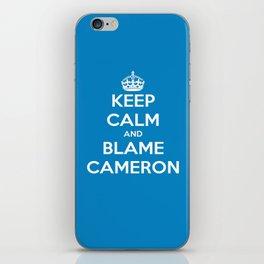 Keep Calm and Blame Cameron iPhone Skin