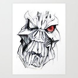 Futuristic Cyborg 7 Art Print