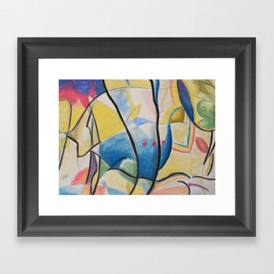 Figure Dance Framed Art Print
