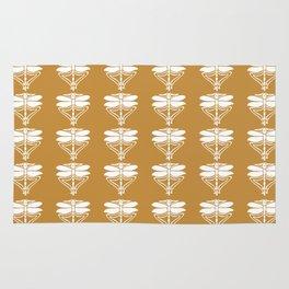 Orange Zest Arts and Crafts Dragonflies Rug