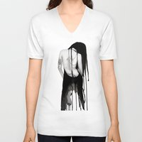 noir V-neck T-shirts featuring Noir by Ryan Blanchar