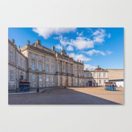 Changing the guard in Copenaghen Canvas Print