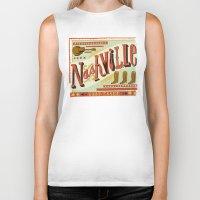 nashville Biker Tanks featuring Nashville by Mary Kate McDevitt