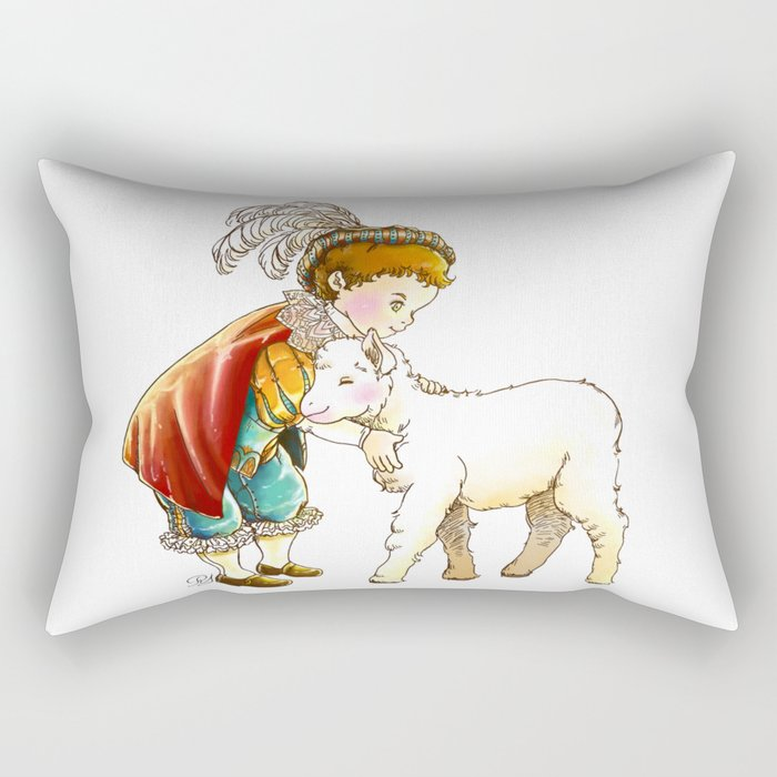 Prince Richard and his new Friend Rectangular Pillow