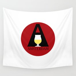 Amsterdam Cafe Wall Tapestry