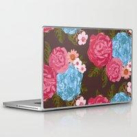 vintage flowers Laptop & iPad Skins featuring Vintage Flowers by Anto Del Vecchio