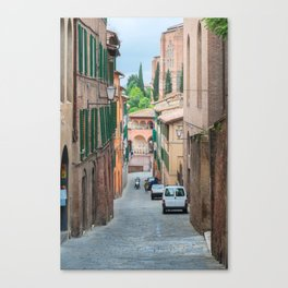 Walkway on in old town in Europe Canvas Print
