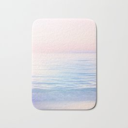 Dreamy Pastel Seascape 2. Blue & Nude #pastelvibes #Society6 Bath Mat