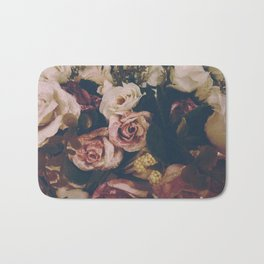 floral vintage pattern Bath Mat