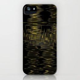 Black Gold Wavelength Design iPhone Case