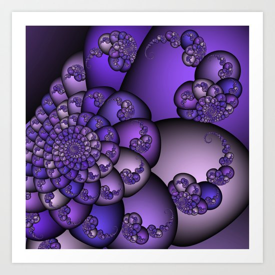 Perplexity of Purple Art Print
