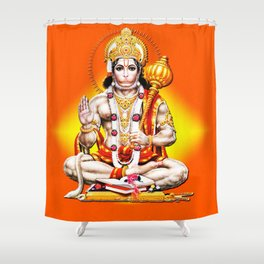 Hindu - Hanuman 2 Shower Curtain