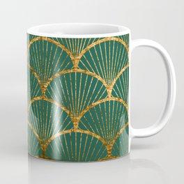 Emeral gold petal pattern Coffee Mug