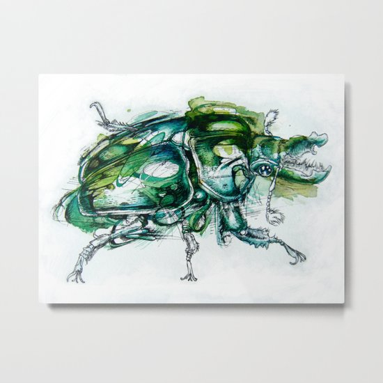 Great Green Goliath Metal Print
