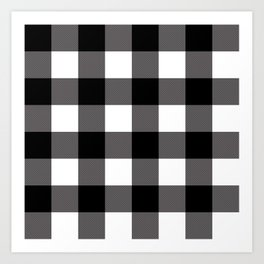 Black & White Buffalo Plaid Art Print