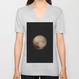 Nasa Picture 12: Pluto Unisex V-Neck