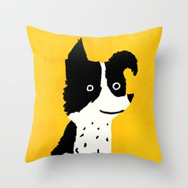 Brodie: The Border Collie Throw Pillow