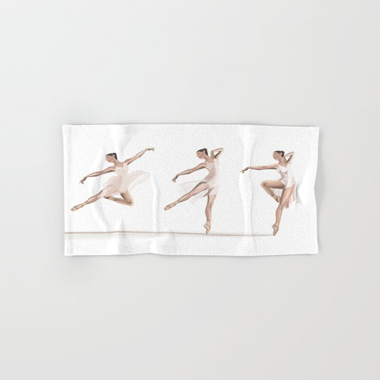 Ballet Dance Moves Hand & Bath Towel