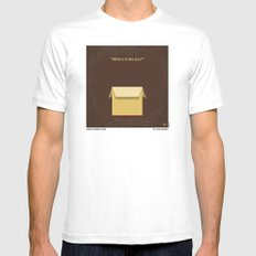 No233 My Seven minimal movie poster MEDIUM White Mens Fitted Tee