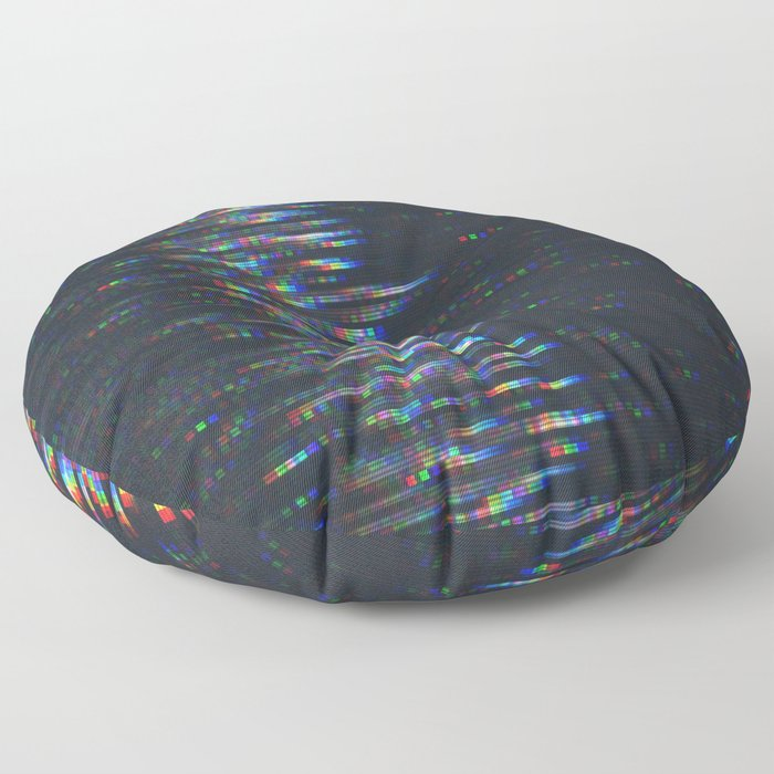 Glitch Art Floor Pillow