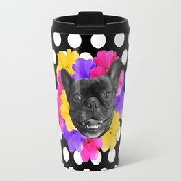 Pansy Frenchie Travel Mug