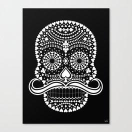 Black Skull  White Suits Canvas Print
