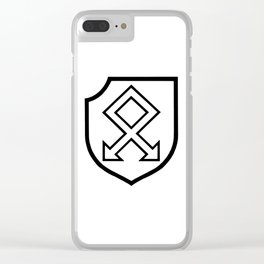 Martial Military Insignia Symbol Clear iPhone Case