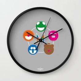 Geometric Muppets Wall Clock
